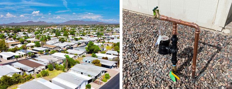 Digital Water Meters at Apartments in Arizona