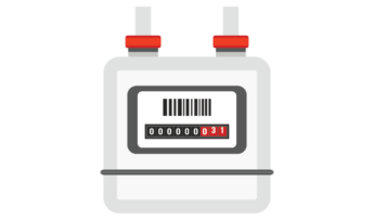 graphic of gas submeter