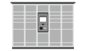 graphic of apartment package lockers