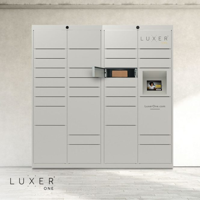 Luxer One apartment package lockers